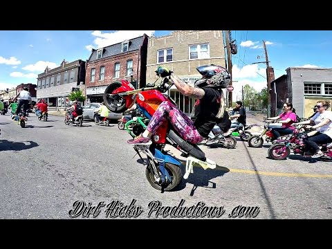 GROM STREET STUNTS @ RANDOS RIDE 2016  ST LOUIS CIRCLE THE CITY  MSX125 STUNTING