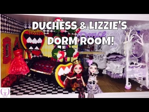 HOW TO MAKE A DORM ROOM FOR LIZZIE HEARTS & DUCHESS SWAN [EVER AFTER HIGH]
