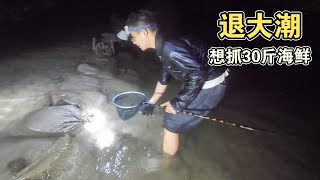 Hainan's Seafood Catching Competition is Fierce, Many Fish are Injured by the Waves.