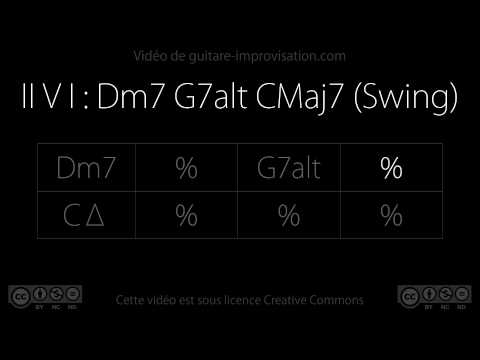 II V I : Dm7 G7alt CMaj7 (140 bpm) : Backing Track