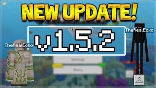 NEW MCPE 1.5.2 UPDATE! Minecraft Pocket Edition - 4D Skins NOT Removed & Crashes Fixed!