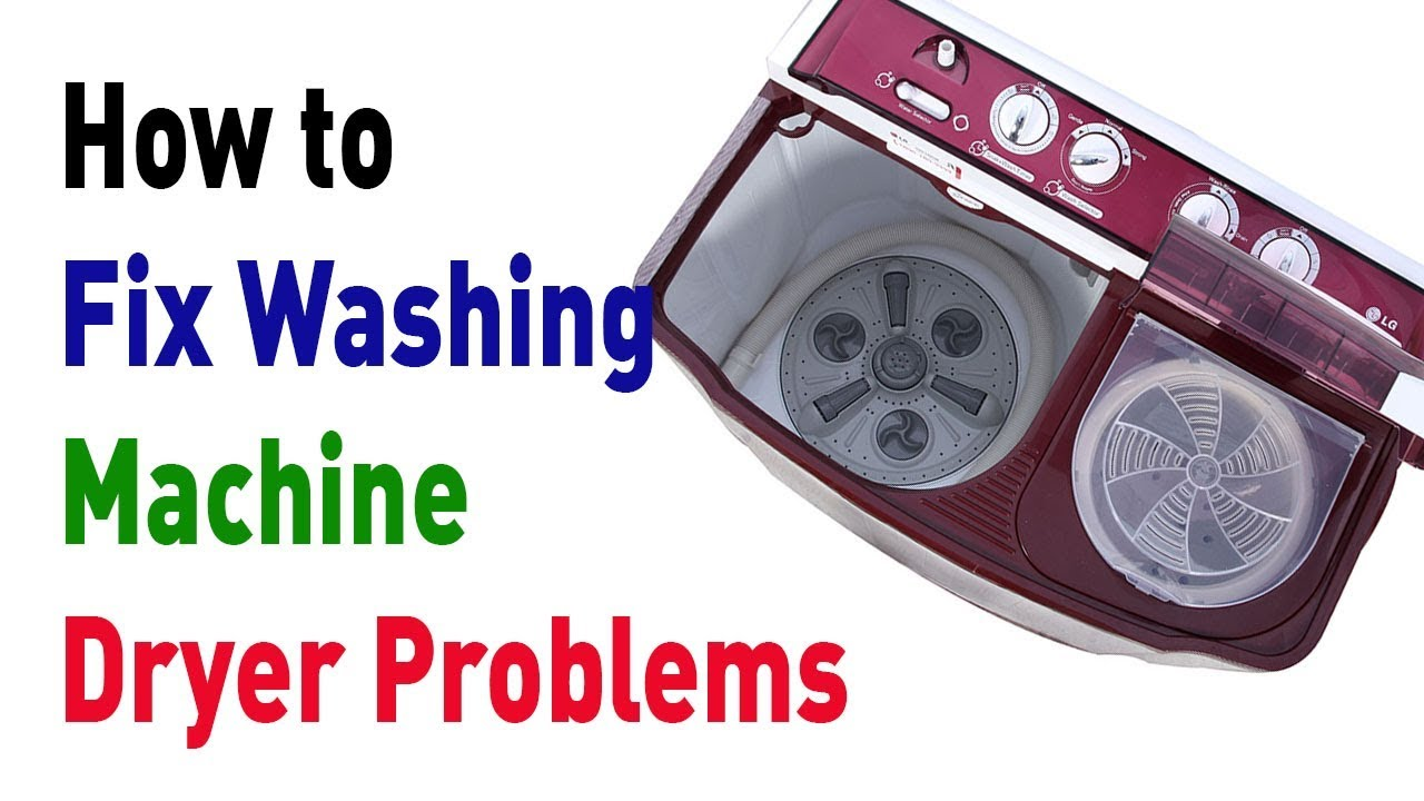 How To Fix Washing Machine Dryer Problems Youtube Motor Wiring Diagram View