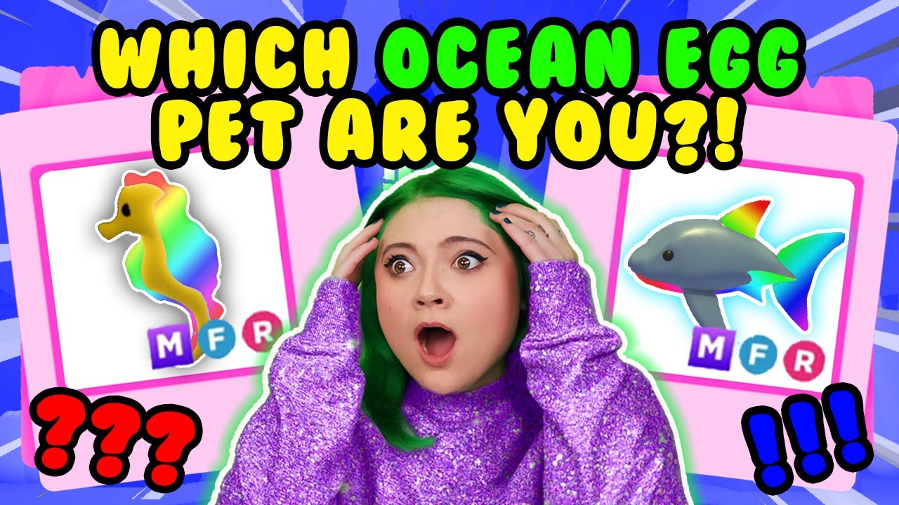 Download WHICH *MEGA* OCEAN EGG DREAM PET WILL I BECOME?! *INSANE RESULTS* Adopt Me Roblox Personality Quiz!