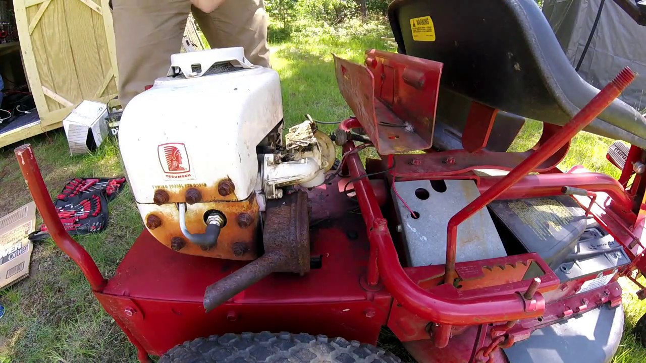 medium resolution of cleaning carburetor on old snapper riding lawn mower