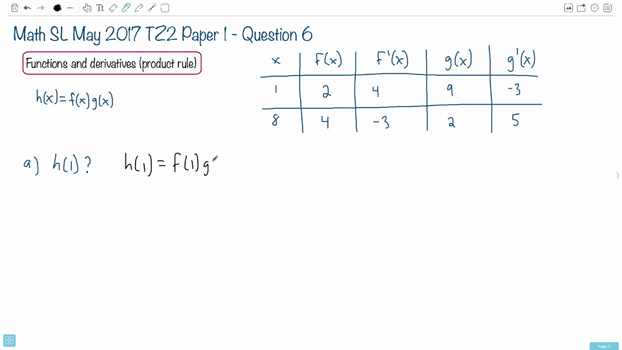 Question 6a — IB Math SL — May 2017 TZ2 Paper 1 — Past IB Exams Solutions