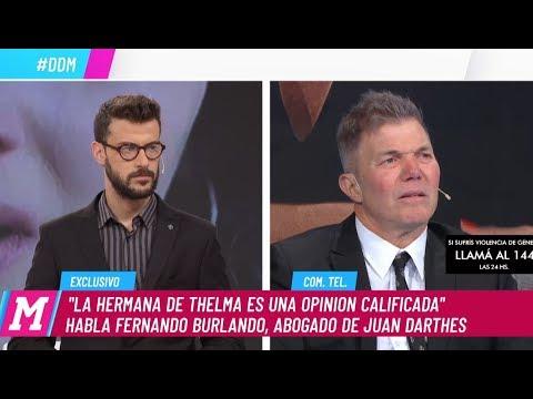 Fernando Burlando: 'La hermana de Thelma Fardín es una opinión calificada'