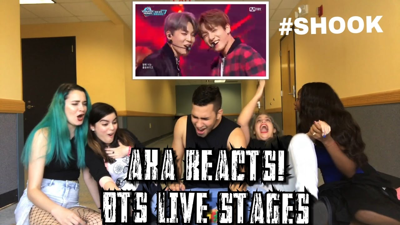 AKA REACTS! BTS Live Stage Reactions (21st Century Girls, Am I Wrong, Blood  Sweat & Tears)