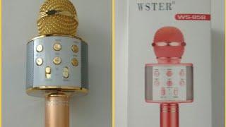 Karaoke mikrofon Wster WS 858 kutu açılımı ve detaylı inceleme