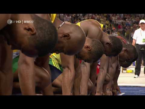 100m Sprint Men Finals Usain Bolt  {Berlin 2009 } [HD]