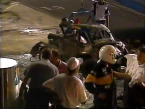 Mike Gorman 1998 Legends Wreck and Fire at Charlotte