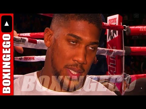 *LIVE* ANTHONY JOSHUA NOW WANTS TO FIGHT IN AMERICA!!!! VOWS TO KNOCKOUT WILDER ON TV VAMPIRE STRE