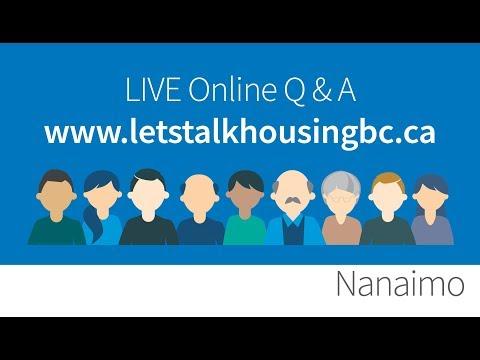 Let's Talk Housing Nanaimo Live Q & A