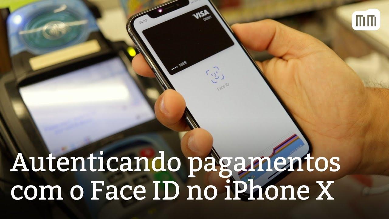 brand new 205d8 8e278 Autenticando pagamentos com o Face ID no iPhone X (Apple Pay e apps)