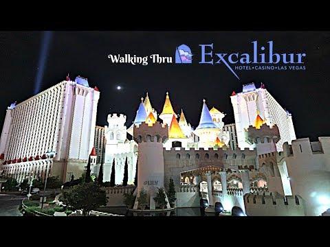 Walking Thru Excalibur Casino, Las Vegas