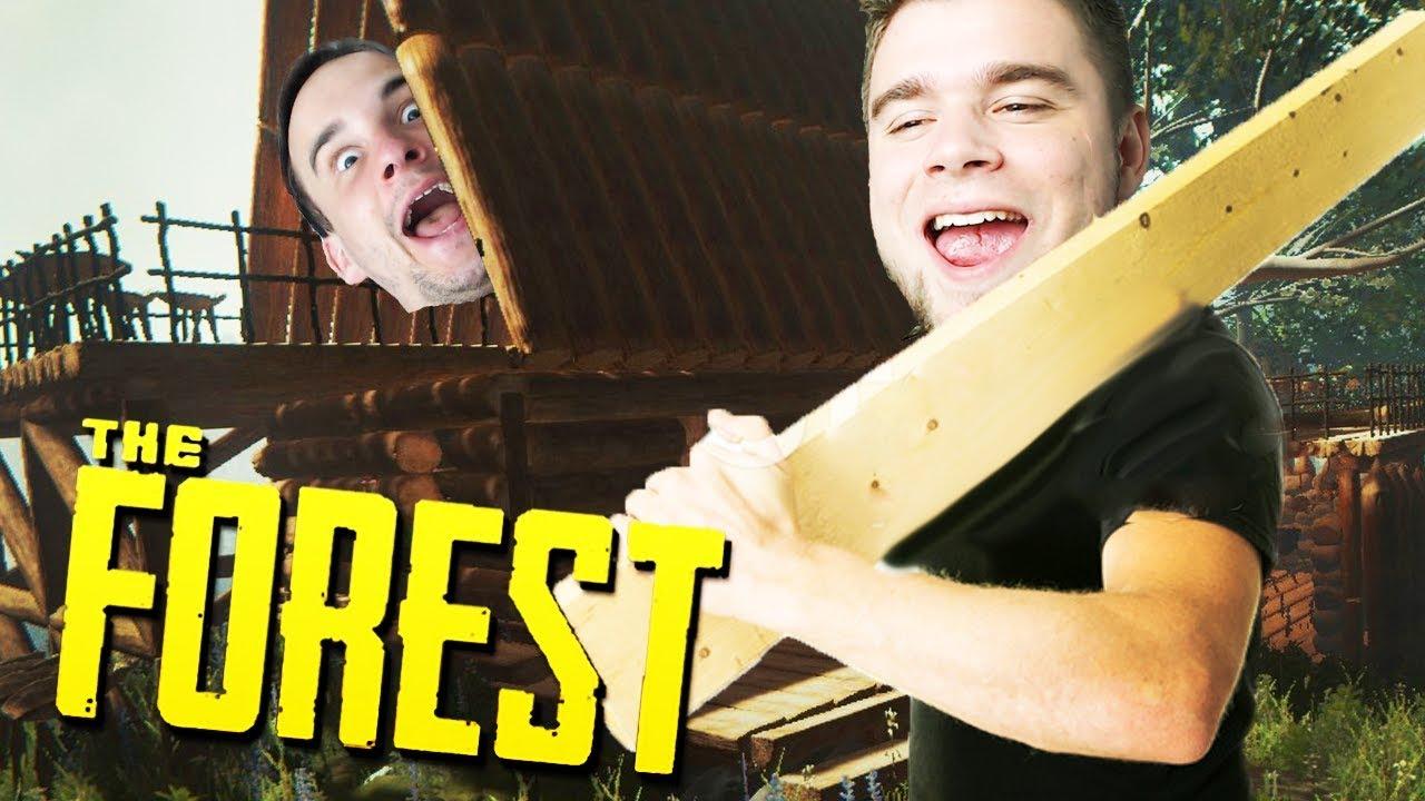 BUDUJEMY PIERWSZĄ BAZĘ! | The Forest [#4] (With: Dobrodziej)
