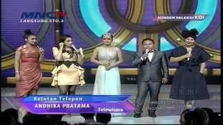 Andika Pratama Ngerjain Ussy Sulystiawati - Konser Seleksi KDI 2015 (29/3)