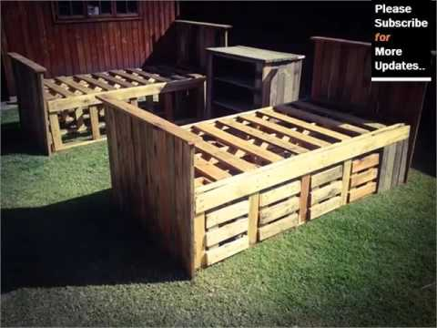 Pic Of Furniture Made By Using Pallet - Ideas | Pallets Furniture Bed