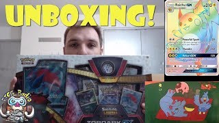 Opening a Zoroark-GX Shining Legends Pokemon Box!