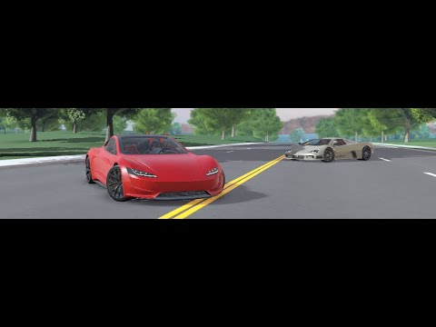 OP SSC ULTIMATE AERO vs TESLA ROADSTER WAYFORT ROBLOX
