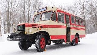 現役ボンネットバスに乗ろう!岩手県北バス TSD40改 松川温泉行き Japanese bonnet bus Isuzu TSD40 1968