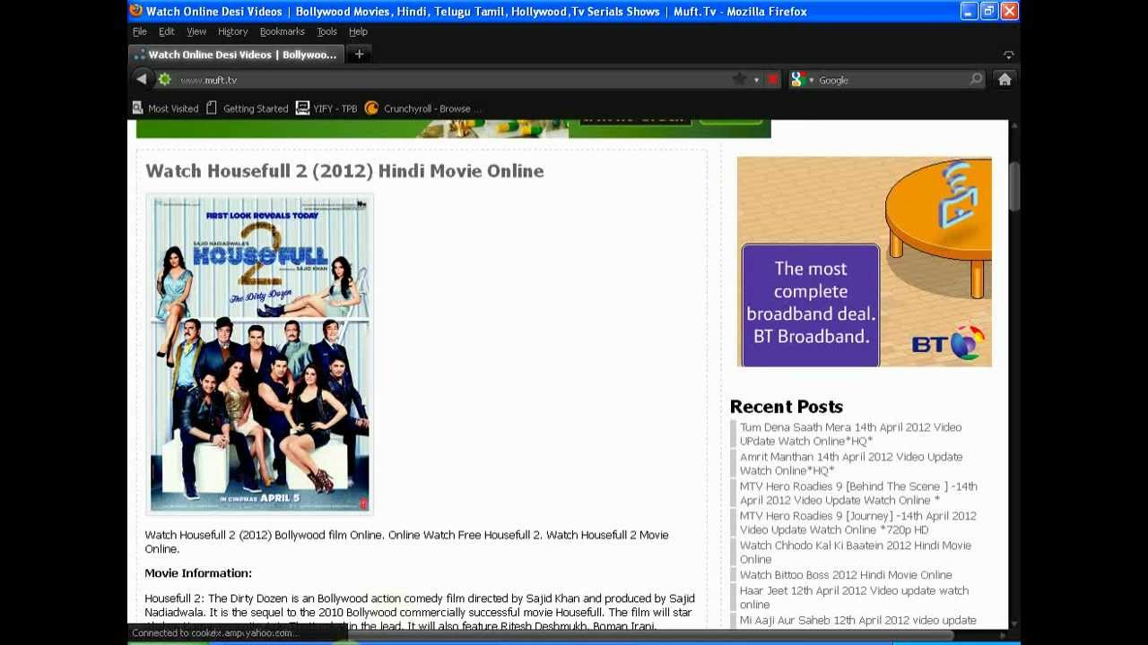 Watch Hindi Movies Online For Free - Youtube