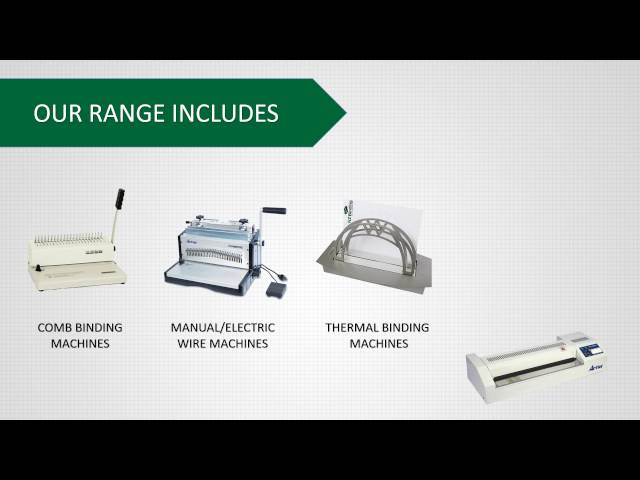 Video Demo Guides for Our Binding Machines for Business