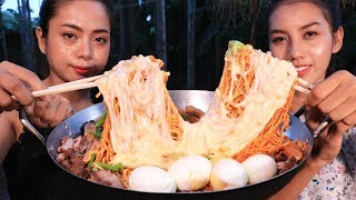 Yummy cooking Noodle cheese recipe - Cooking skill