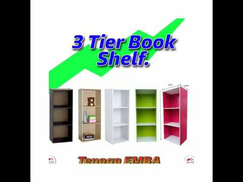 3 Tier Multipurpose Rack Book Shelf Rak Buku Kabinet Buku.