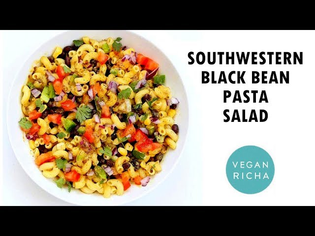 Southwestern Pasta Salad with Black Bean Dressing (Oil-free) | Vegan Richa
