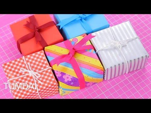 สอนพับกล่องของขวัญ จากกระดาษสีสวย