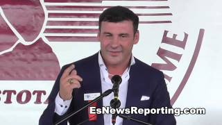 Joe Calzaghe Hall Of Fame Speech - esnews boxing