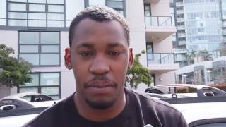 Aldon Smith reacts to being detained by police