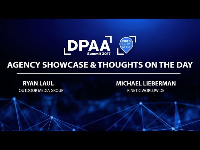 Agency Showcase & Thoughts on the Day