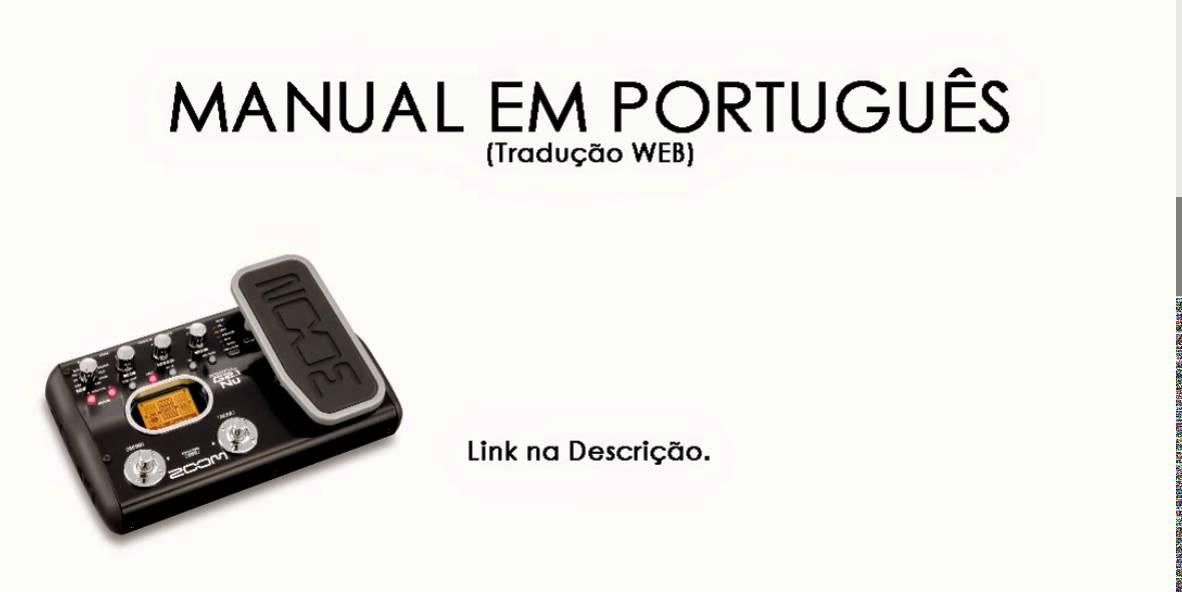 ZOOM MANUAL BAIXAR G2 PEDALEIRA PORTUGUES DA EM