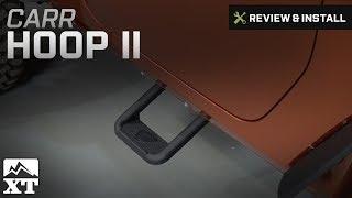 Carr 101241 Hoop II XP3 Black Powder Coat Truck Step Fits 07-16 Jeep Wrangler JK