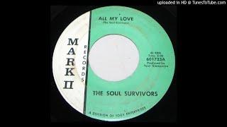 "The Soul Survivors-""All My Love/I Won't Cry"" 1966 OHIO GARAGE-ROCK 45"