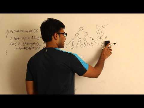Algorithms lecture 13-- Build max heap algorithm and analysis