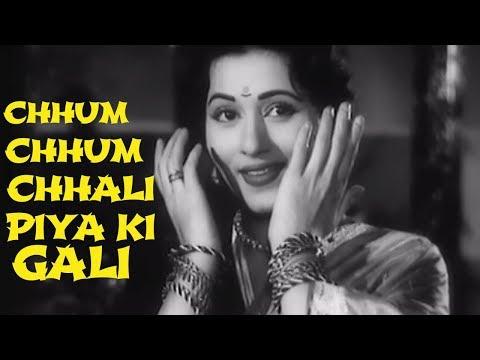 Chhum Chhum Chali Piya Ki Gali - Lata Mangeshkar | Hindi Dance Song | Madhubala | Ek Saal