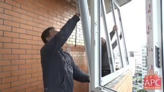 Технология остекления балкона новостройки распашными окнами под ключ