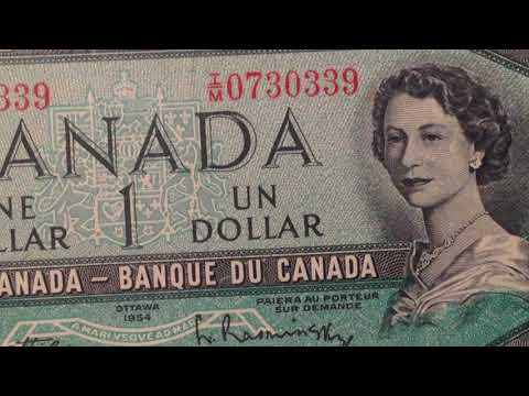 1954 One Dollar Bank Note Of Canada