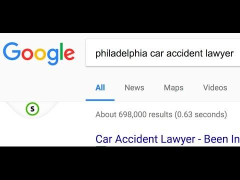 Philadelphia car accident lawyer website analysis