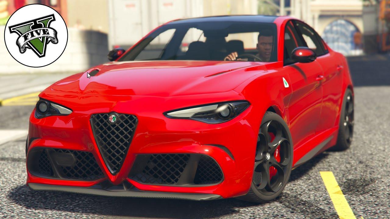Grand Theft Auto V  Alfa Romeo Giulia Quadrifoglio MOD Test HD 1080p  YouTube