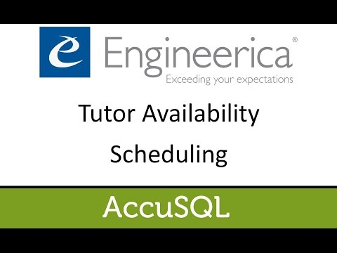 Tutor Availability Scheduling - Accu2017