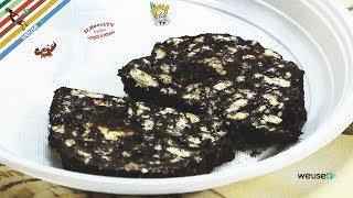 111 - Salame di cioccolato...quarche fetta e sei rinato! (dolce facile da realizzare senza cottura)
