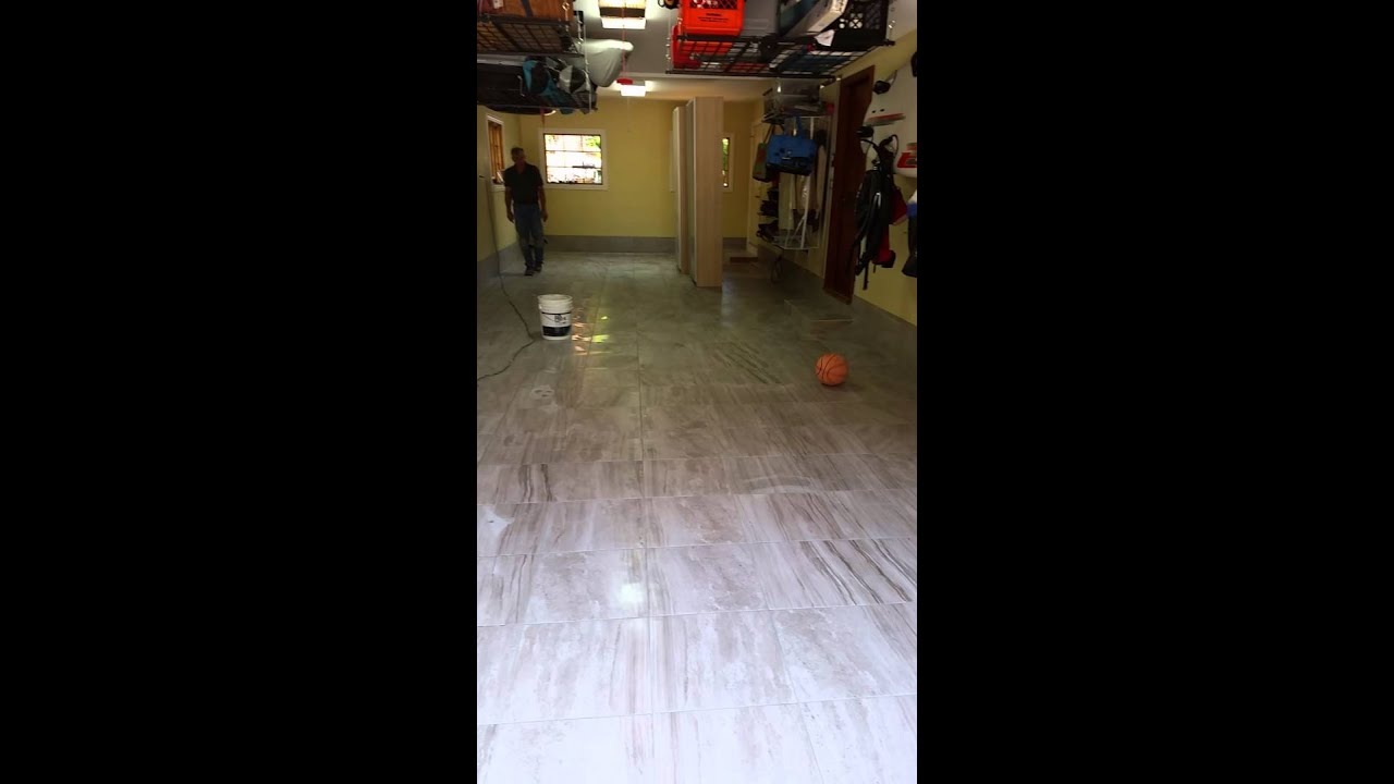 Garage Floor Tiles That Drain Repairing And Leveling The Garage Floor Without The Drain