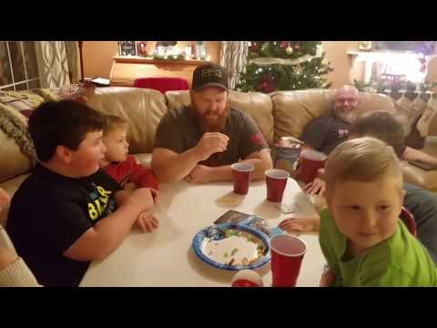 Bruce family Christmas (playing Bean Boozled)