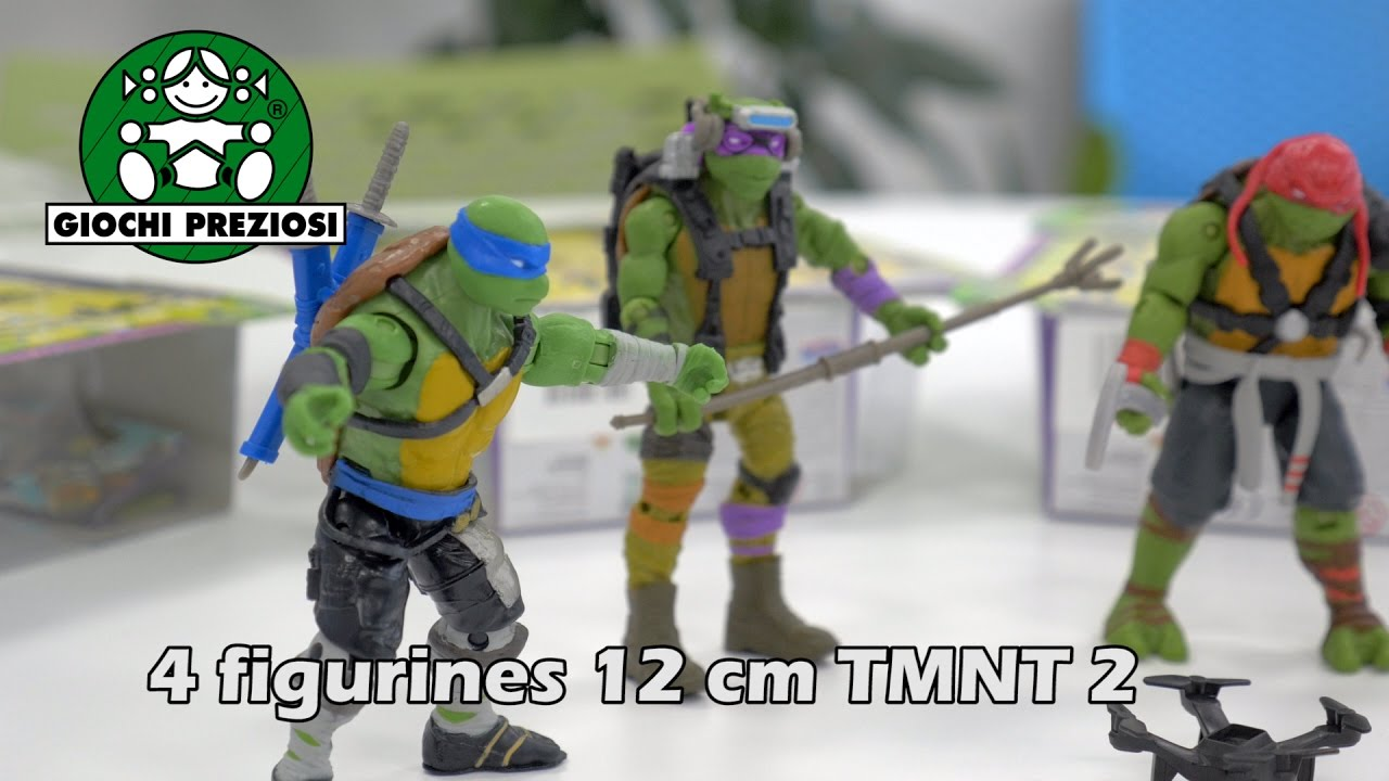 4 figurines tortues ninja movie 2 d mo en fran ais - Michaelangelo tortue ninja ...