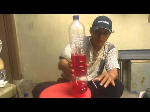 air mancur dalam botol