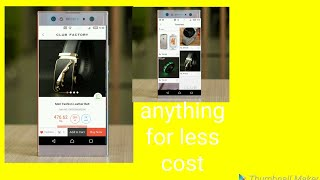 Anything for less cost|| By Monik