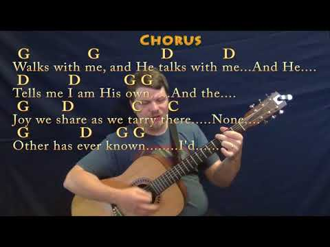 In the Garden (Hymn) Strum Guitar Cover Lesson in G with Chords/Lyrics